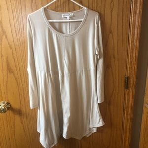 Cream colored tunic